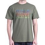Peace Love Puerto Rico Dark T-Shirt