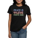 Peace Love Puerto Rico Women's Dark T-Shirt