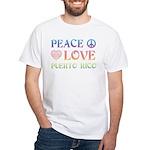 Peace Love Puerto Rico White T-Shirt