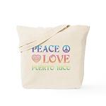 Peace Love Puerto Rico Tote Bag