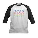 Peace Love Puerto Rico Kids Baseball Jersey