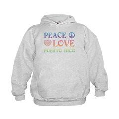 Peace Love Puerto Rico Kids Hoodie