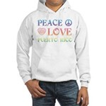 Peace Love Puerto Rico Hooded Sweatshirt