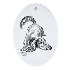 Dachshund Longhair Oval Ornament