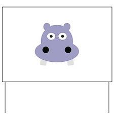 hippo head Yard Sign