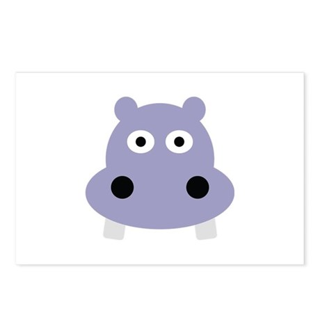 hippo head Postcards (Package of 8)