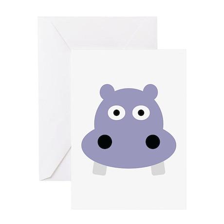 hippo head Greeting Card