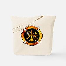 Flaming Maltese Cross Tote Bag