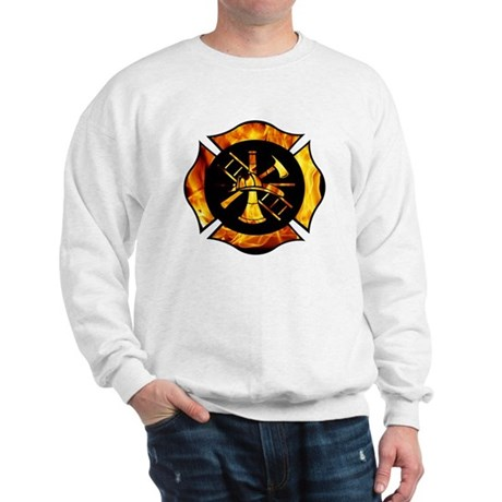 Flaming Maltese Cross Sweatshirt