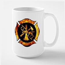 Flaming Maltese Cross Large Mug