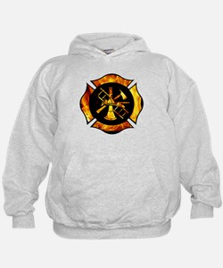 Flaming Maltese Cross Hoodie
