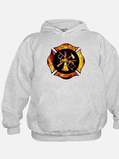 Flaming Maltese Cross Hoody