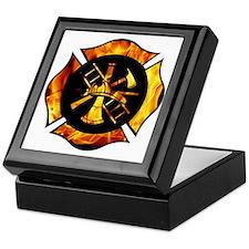 Flaming Maltese Cross Keepsake Box