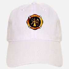 Flaming Maltese Cross Baseball Baseball Cap