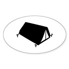 camping tend Oval Decal