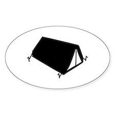 camping tend Oval Sticker (50 pk)