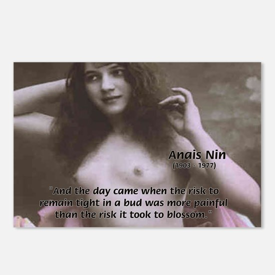Erotic Stories: Anais Nin Postcards (Package of 8)