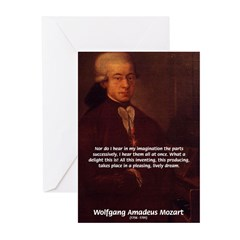 Mozart's Work: Symphony, Piano Greeting Cards (Pac