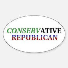 Conservative Republican Oval Decal