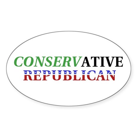 Conservative Republican Oval Sticker