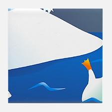 Penguin Wall Mural Tile Coaster