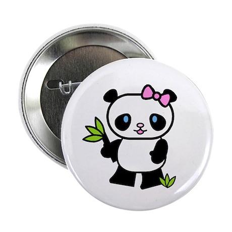 Lil' Girl Panda Button