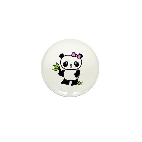 Lil' Girl Panda Mini Button (10 pack)