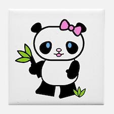Lil' Girl Panda Tile Coaster