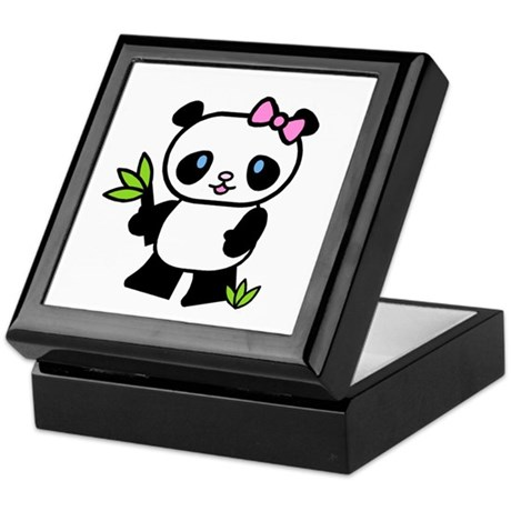 Lil' Girl Panda Keepsake Box