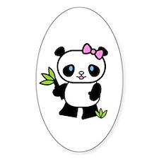 Lil' Girl Panda Oval Decal