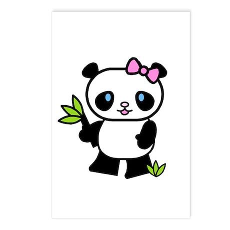 Lil' Girl Panda Postcards (Package of 8)