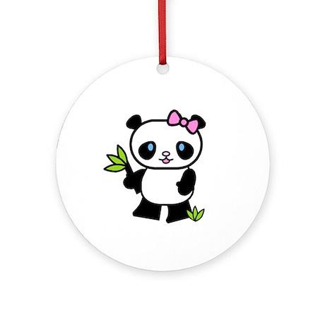 Lil' Girl Panda Ornament (Round)