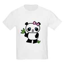 Lil' Girl Panda Kids T-Shirt