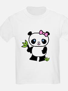 Lil' Girl Panda Kids T-Shirt
