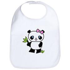 Lil' Girl Panda Bib
