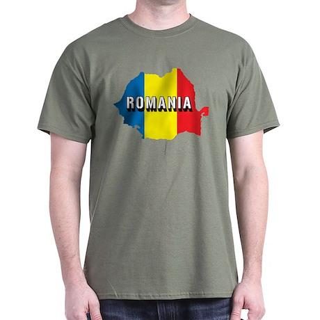 Map Of Romania Dark T-Shirt