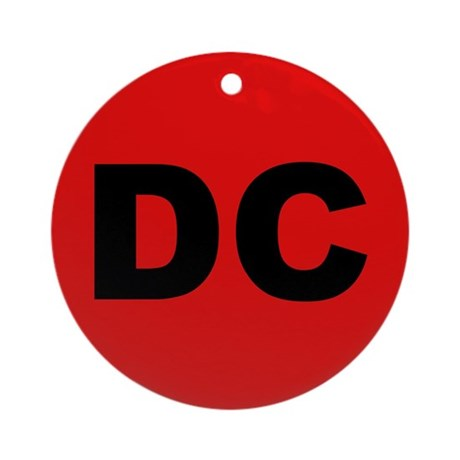 DC (Red and Black) Ornament (Round)