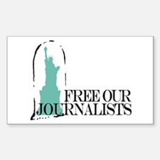 Free Our Journalists Rectangle Decal