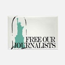 Free Our Journalists Rectangle Magnet