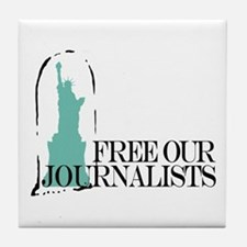 Free Our Journalists Tile Coaster