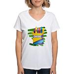 Crayons Women's V-Neck T-Shirt