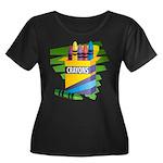Crayons Women's Plus Size Scoop Neck Dark T-Shirt