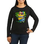 Crayons Women's Long Sleeve Dark T-Shirt