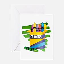 Crayons Greeting Card