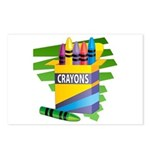 Crayons Postcards (Package of 8)