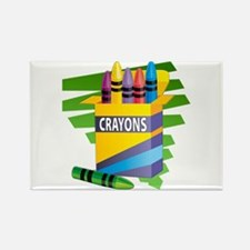 Crayons Rectangle Magnet
