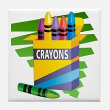 Crayons Tile Coaster