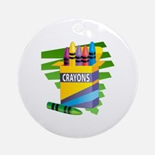 Crayons Ornament (Round)