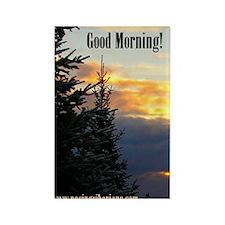 MCK Racing Siberians Good Morning Rectangle Magnet