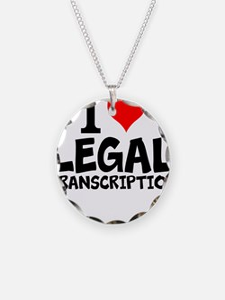 I Love Legal Transcription Necklace